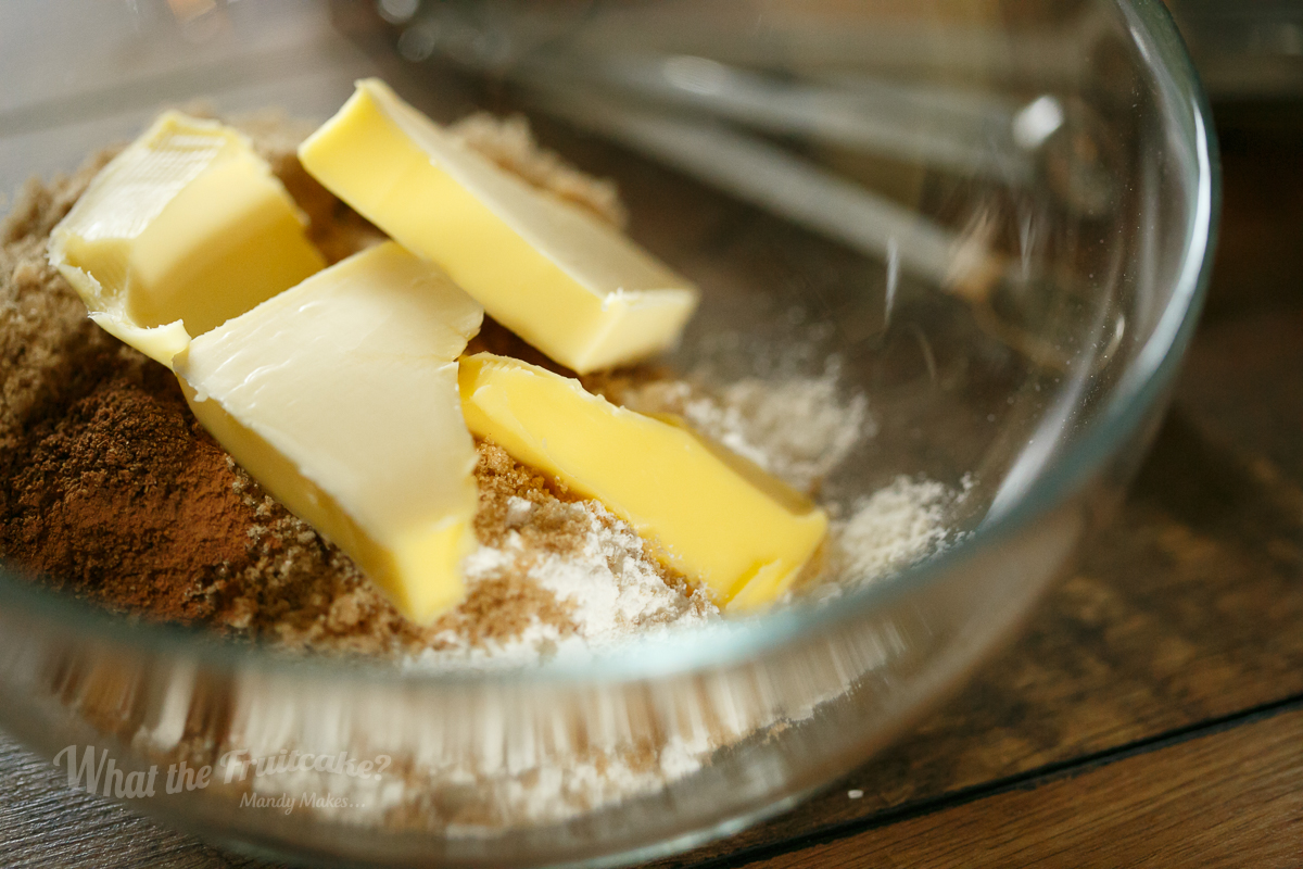 Making of the streusel topping