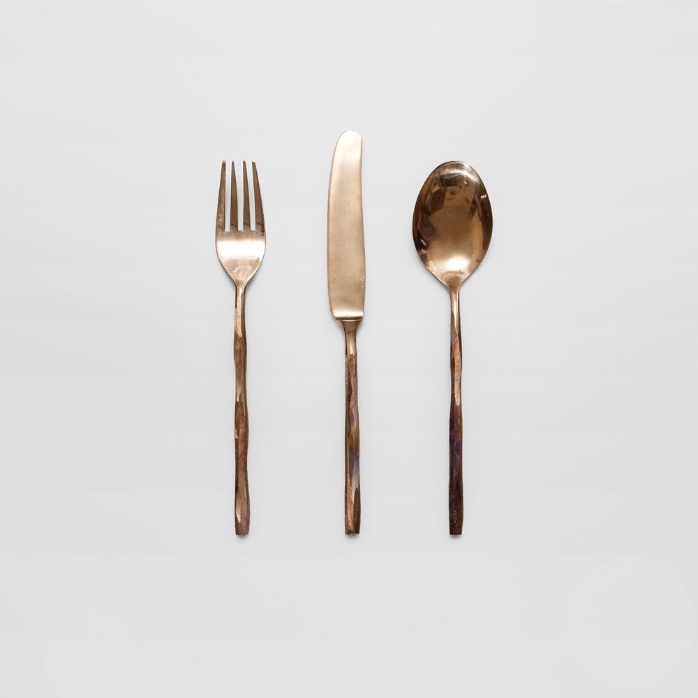 quid feci? Brass cutlery - daniel van dijck