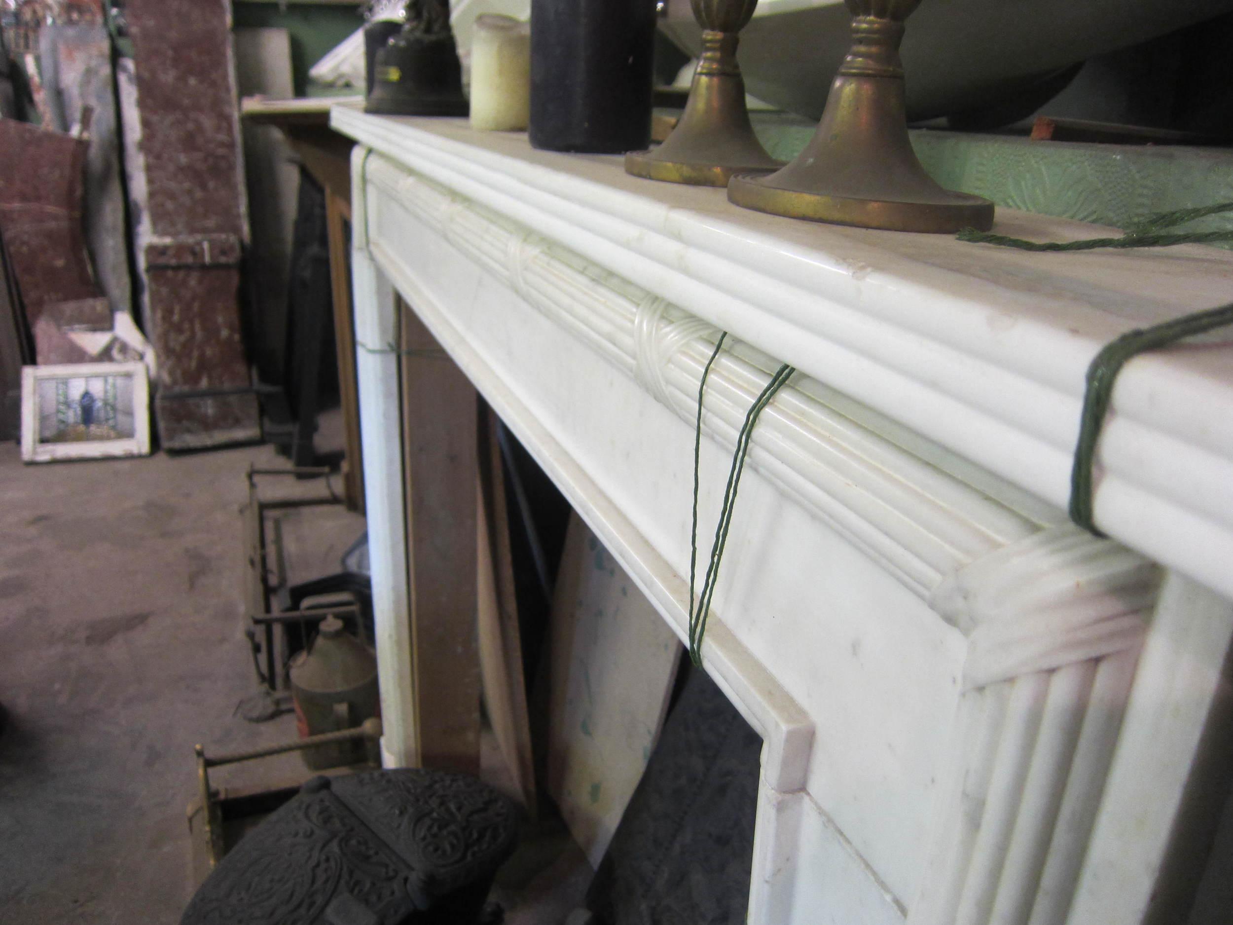 8 02 - Georgian white marble surround