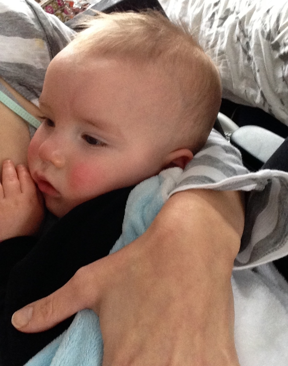 The baby fought eating for six days because he couldn't nurse.
