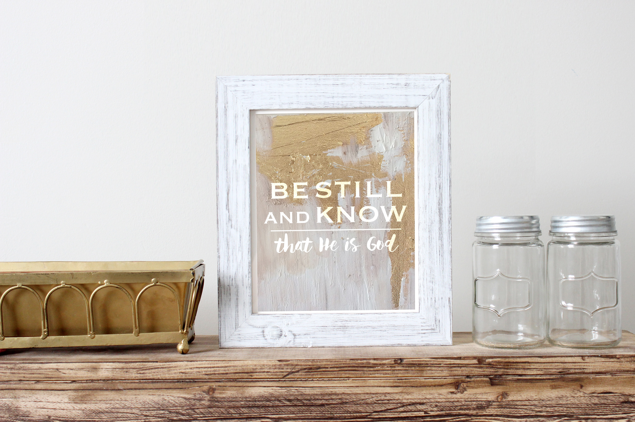 "This ""Be Still and Know"" print is available in our Shop."