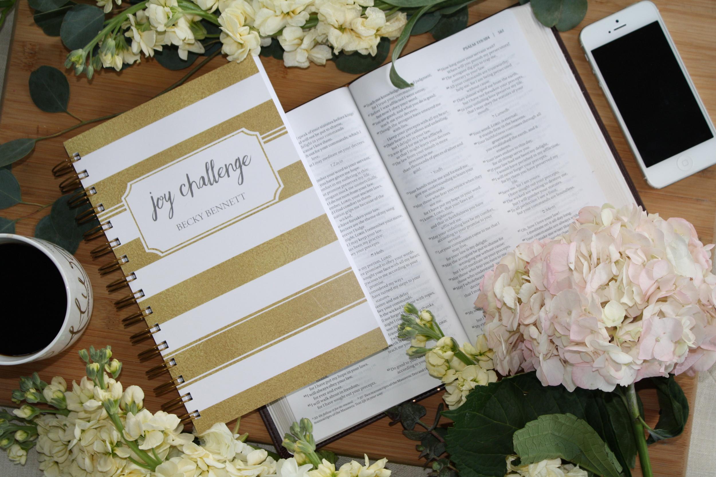 To Choose Joy_Becky Bennett_Joy Challenge_Bible Study_Devotional Journal
