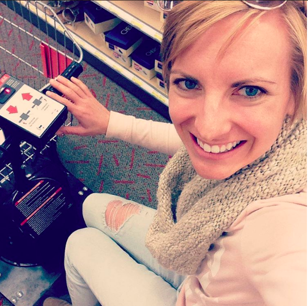 Giving in to the motorized cart at Target