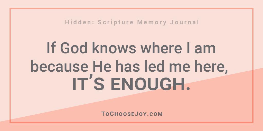 Hidden Scripture Memory Journal_God's calling is enough_Becky Bennett