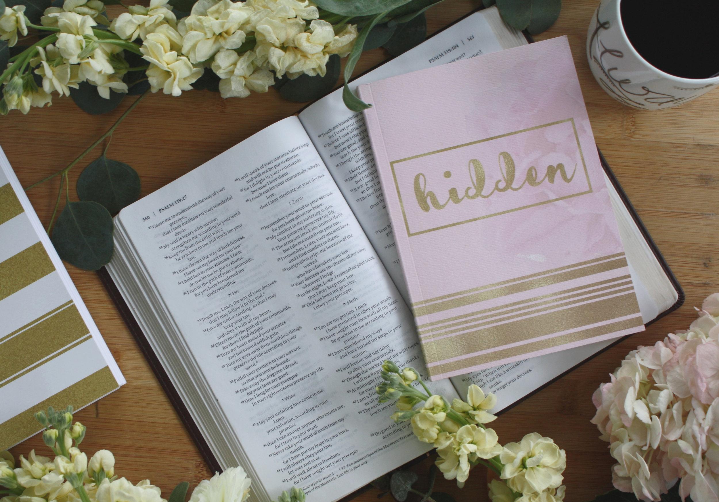 The Hidden: Scripture Memory Journal is available at ToChooseJoy.com/hidden.