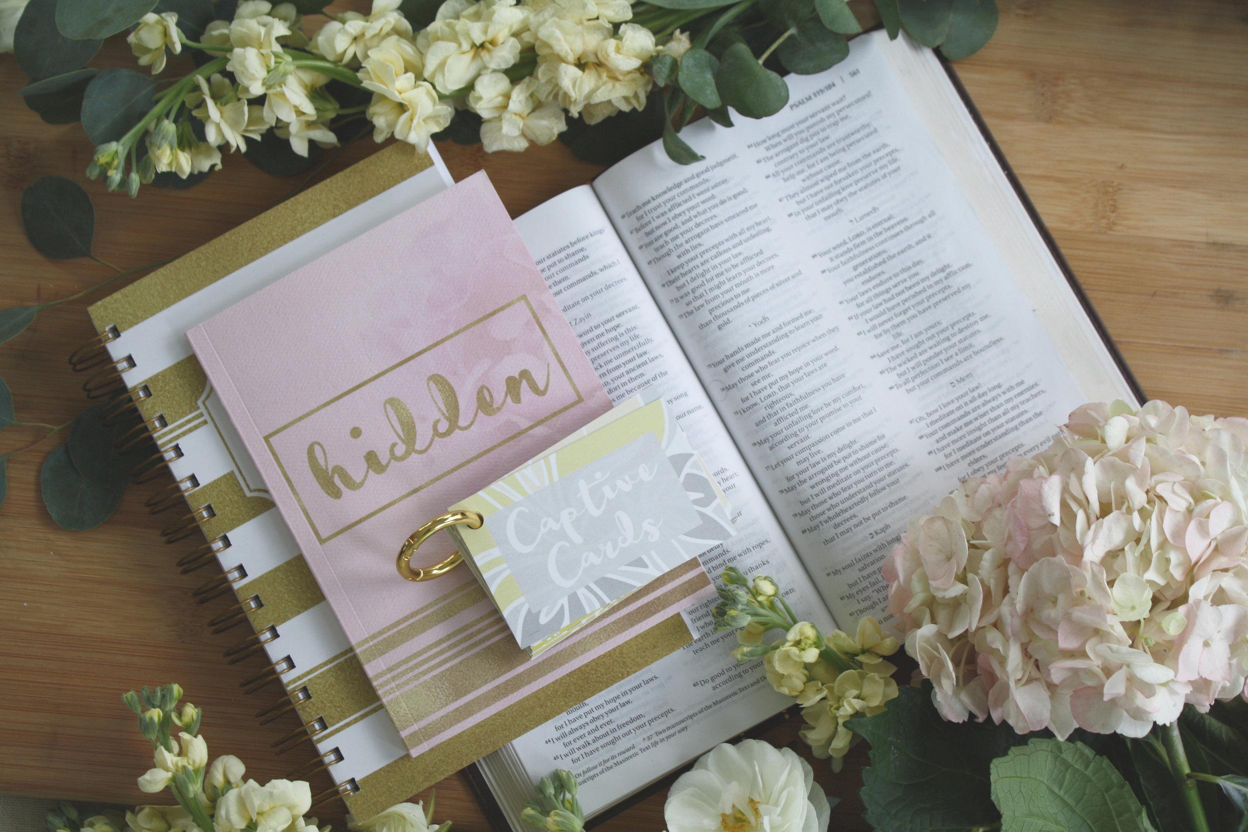 Scripture Memory_Choose Joy_Captive Cards Hidden Your Word in My Heart Journal