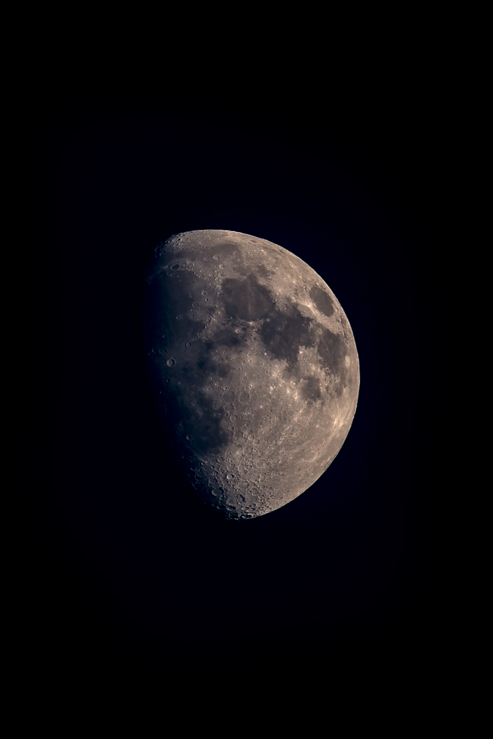 The moon taken with a 400mm F/5.6L on a Canon 5D Mark III on a tripod.