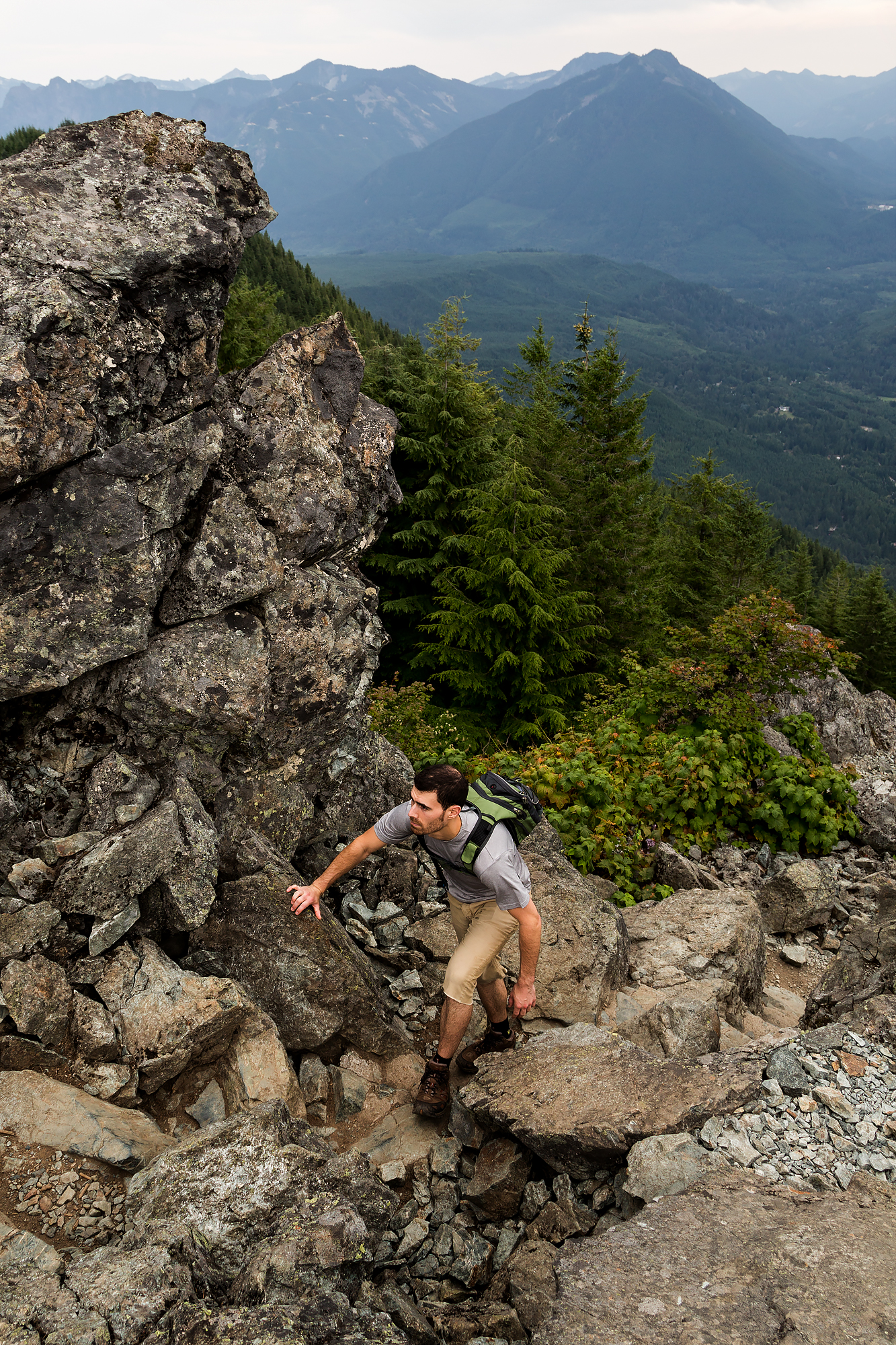 Nearing the top of Mount Si near North Bend, WA.
