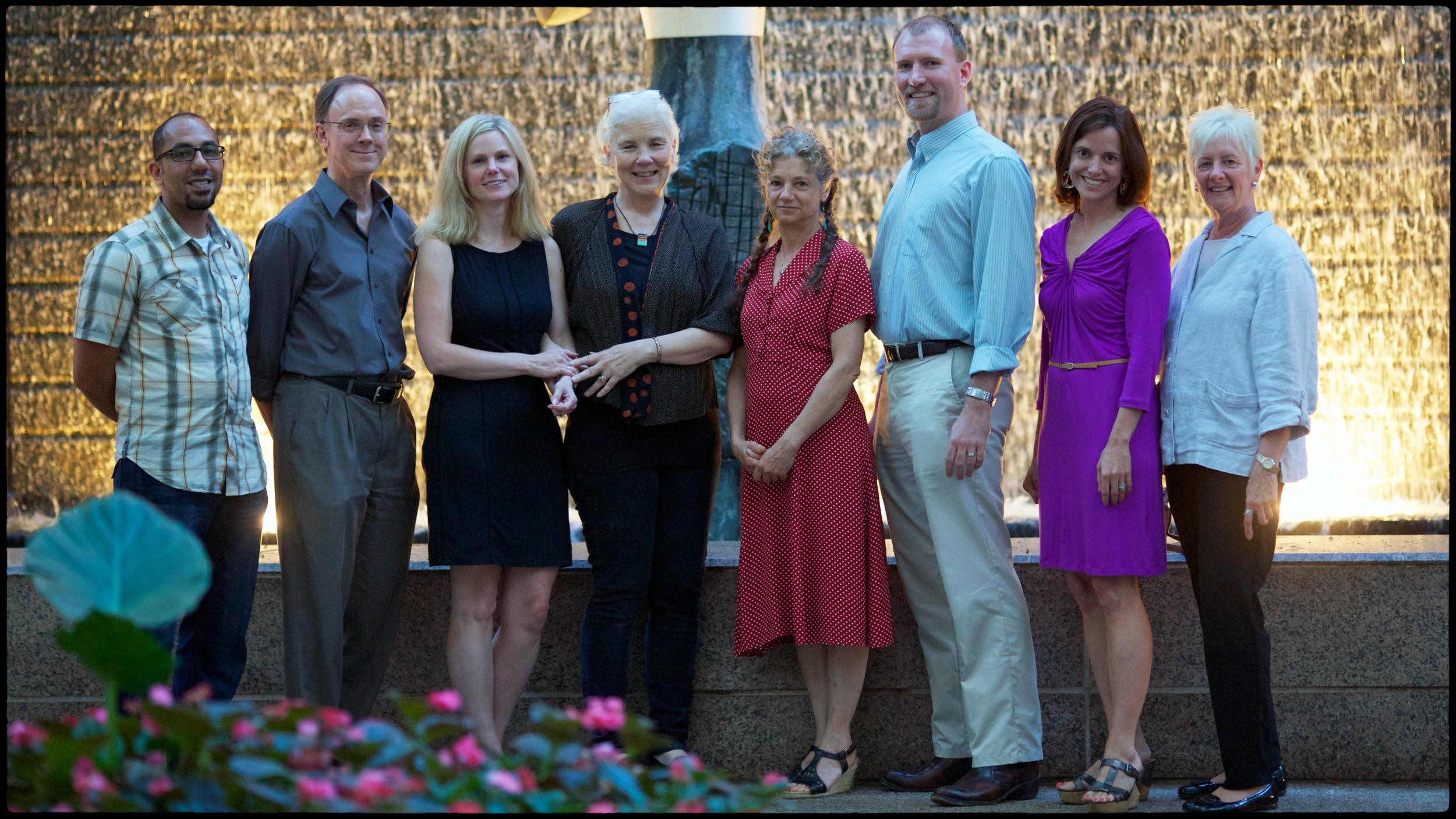 Original TADBiT Leadership Team, 2013-2019. Left to Right: Sammy Banawan, John Mader, Jill Compton, Meggan Moorhead, Norma Safransky, Eric Gadol, Martha Golden, Noreen Esposito