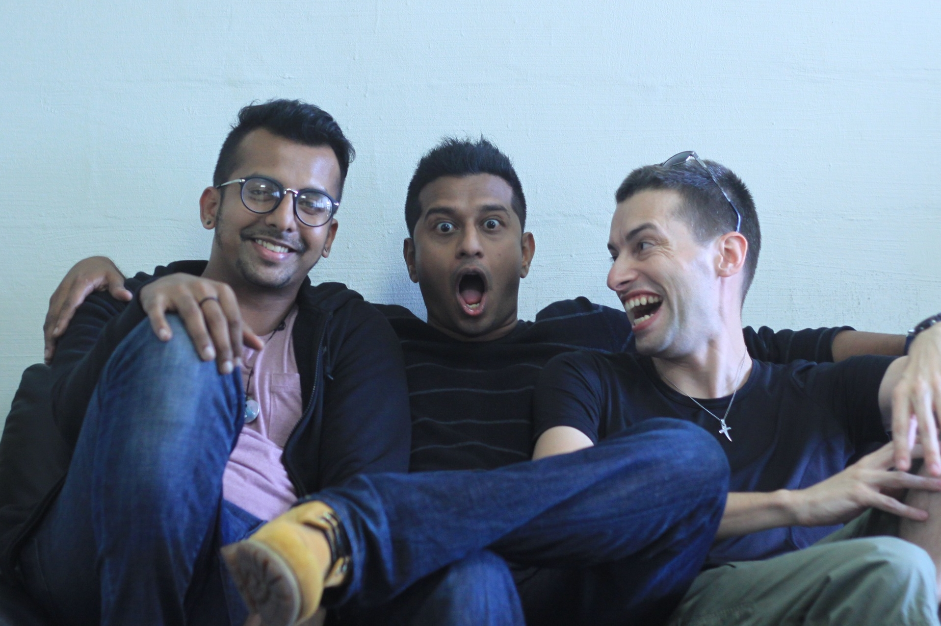 The production team of  Nur Ainun : Jegan Mellam (1. AD), Devarajan Varadarjan (Director), Jerry Koedding (Producer)