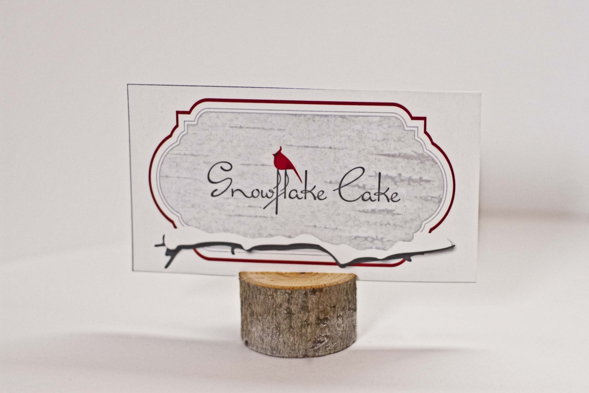 Birds of a Feather: Cardinal Red & Birch Bark Holiday Dessert Table