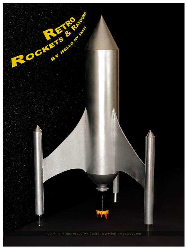 Retro Space: Rocket Ships and Ray-guns Dessert Table