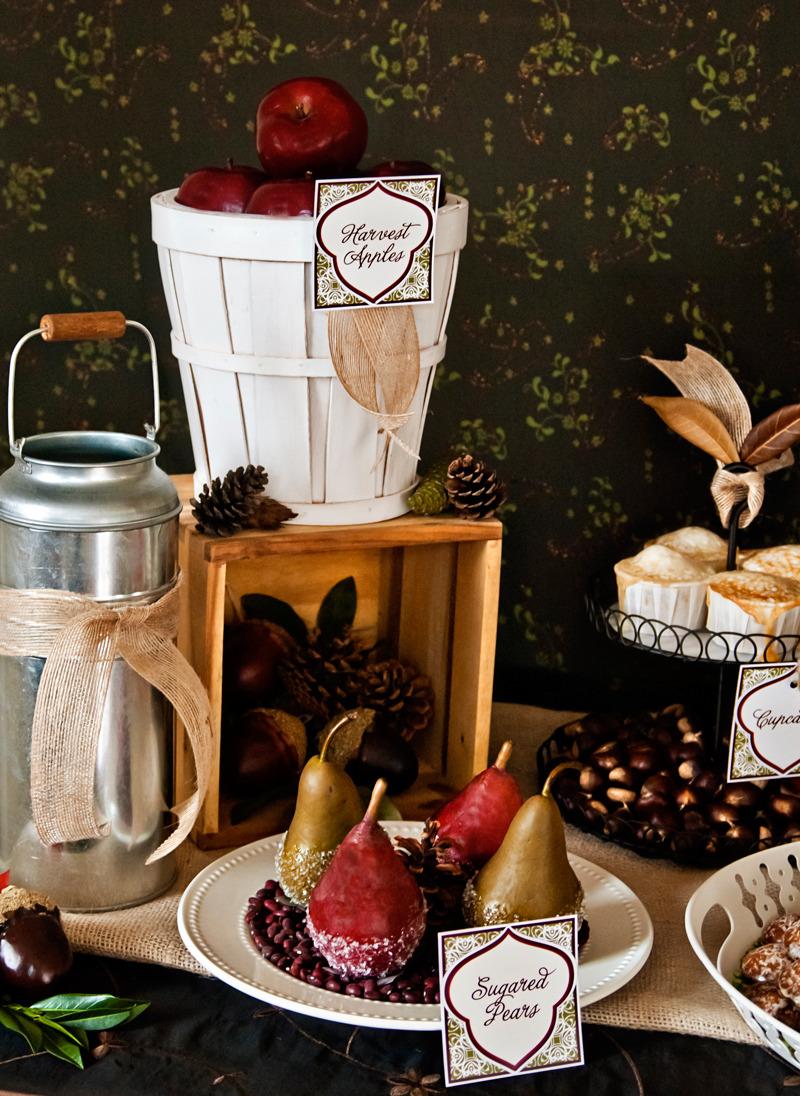 Autumn Harvest Dessert Table