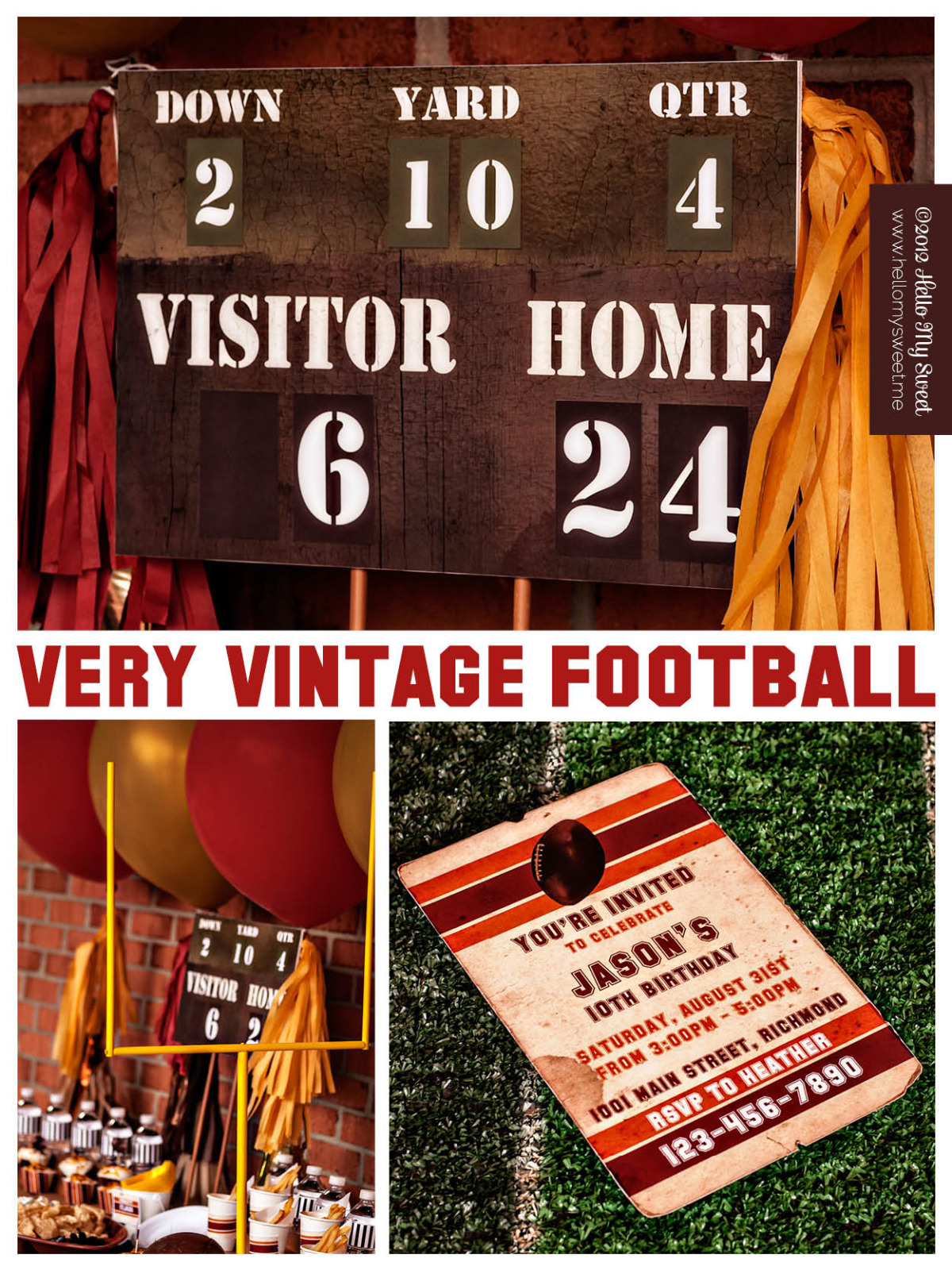 Very Vintage Football Party