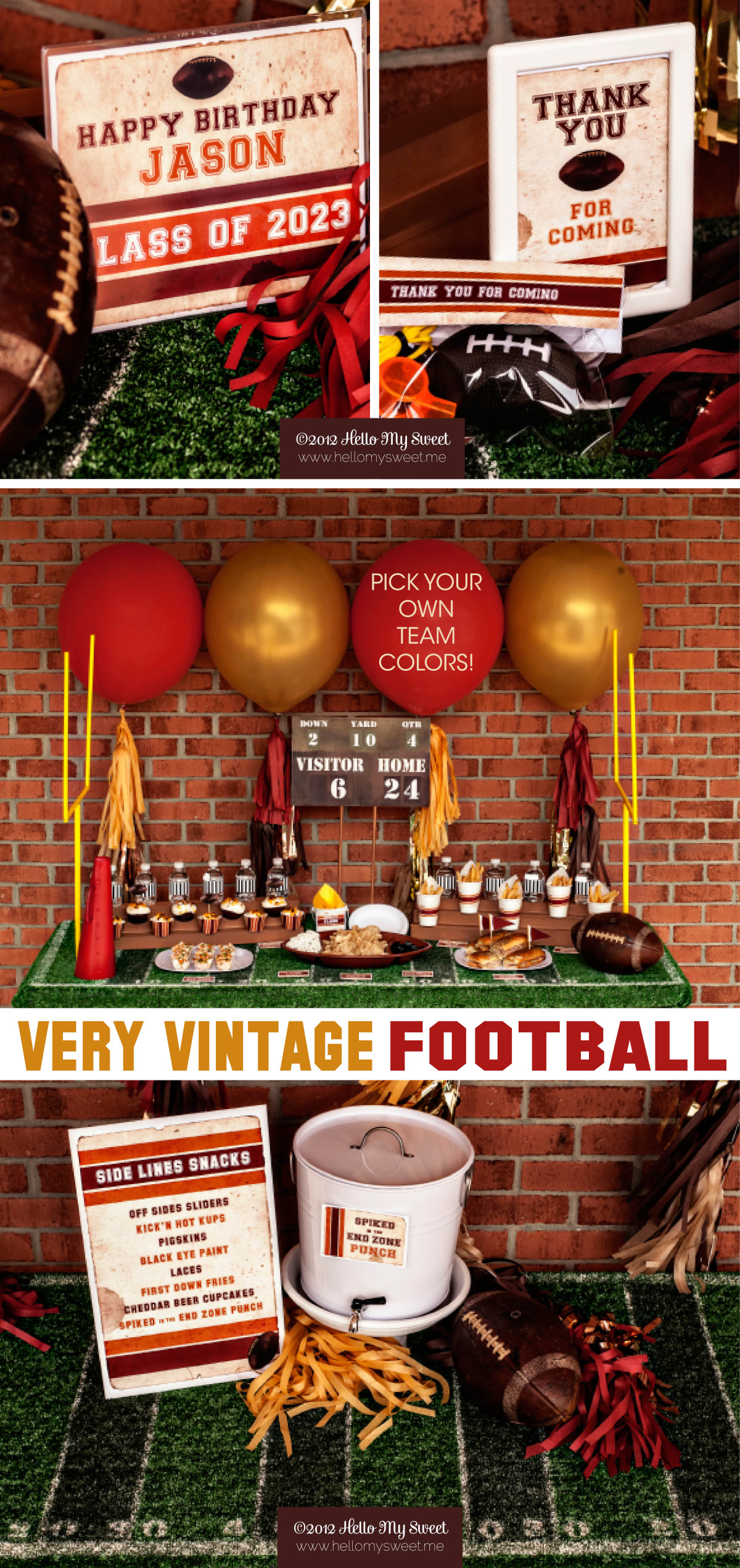 Vintage Football, Super Bowl & Tailgating Party