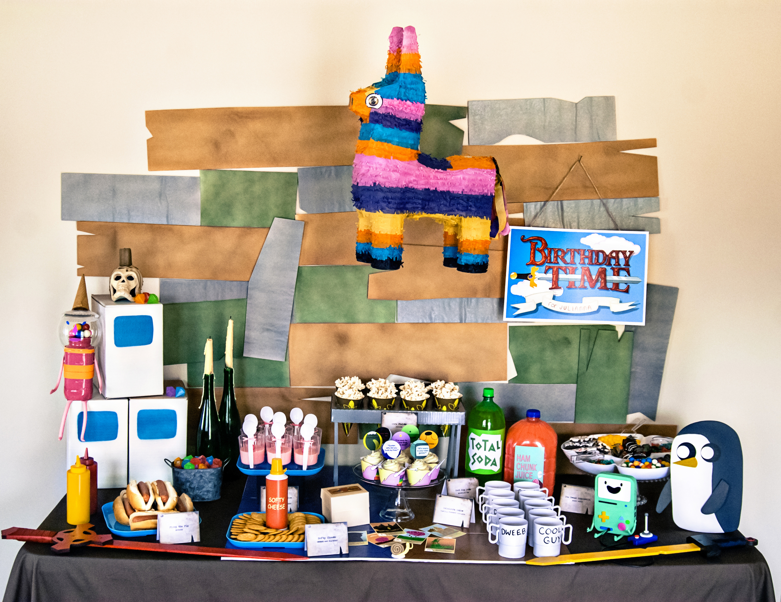 Adventure Time Birthday Party Ideas rom Hello My Sweet
