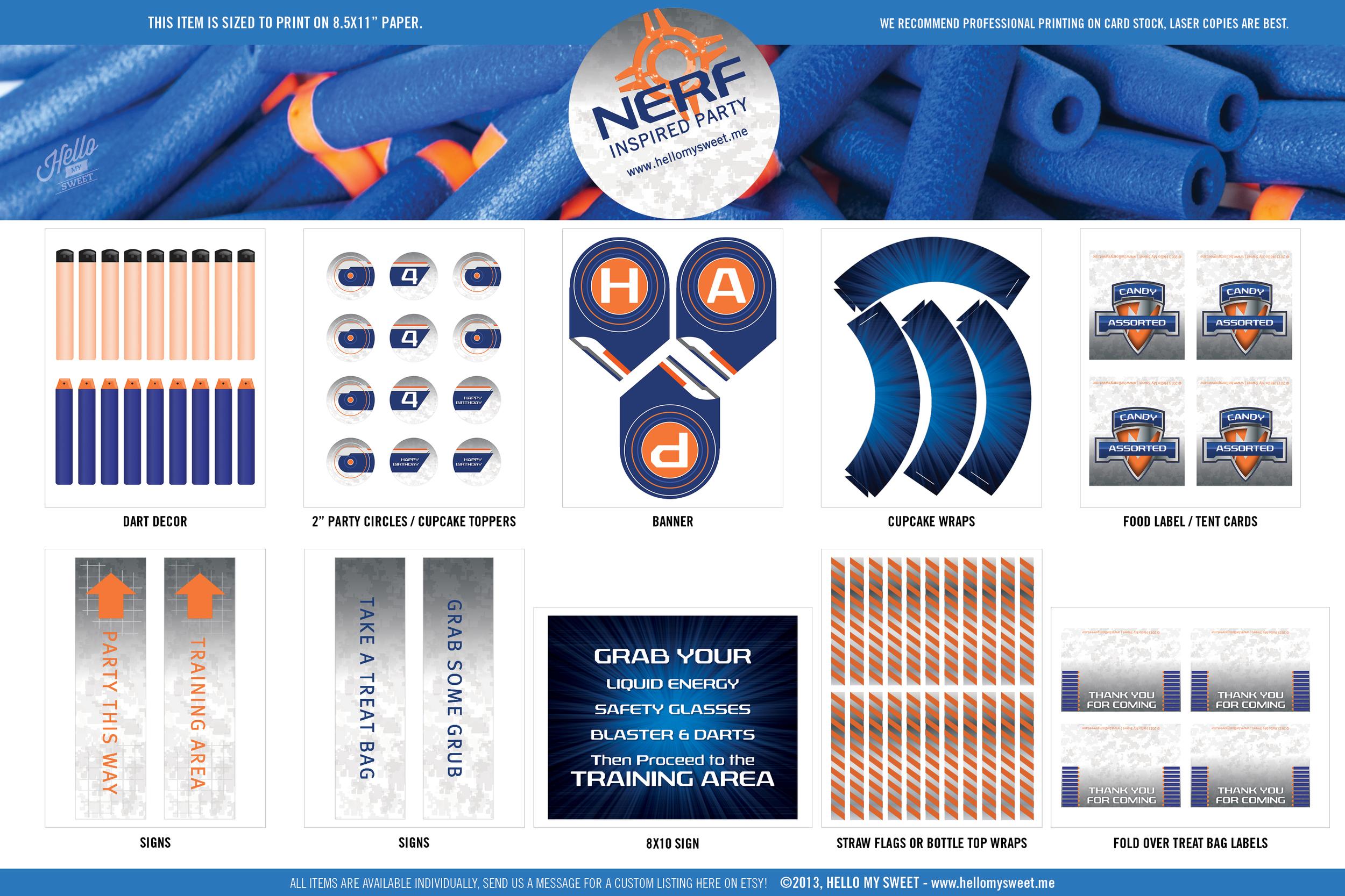 image regarding Nerf Target Printable referred to as NERF Impressed Birthday Social gathering Hi My Lovable