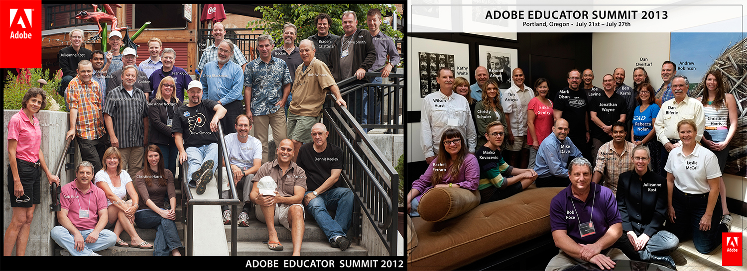 ADOBE EDUCATOR SUMMIT | 20 photography educators from around the country are invited and hosted by Adobe to participate in an intensive 7 day Adobe Lightroom and Adobe Photoshop collaboration between developers and educators to refine the software experience.