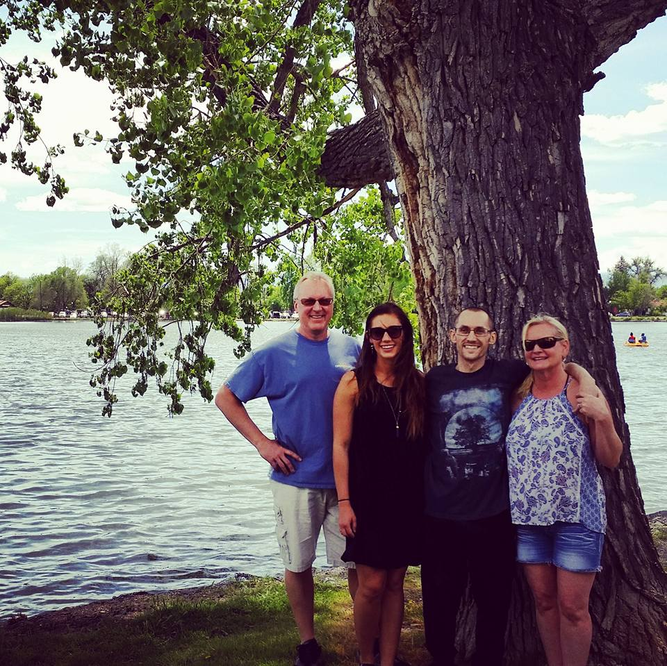 A Jones family outing to Wash Park while still in Denver, on May 21st.