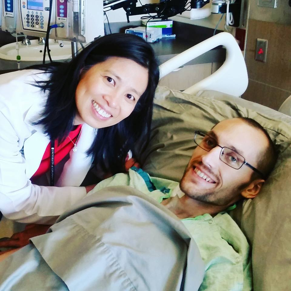 Jordan and the Jones family were incredibly grateful for the truly wonderful and compassionate care of Dr. Elaine Lam, at the University of Colorado in Denver.A most heartfelt and tearful goodbye, on May 25th.