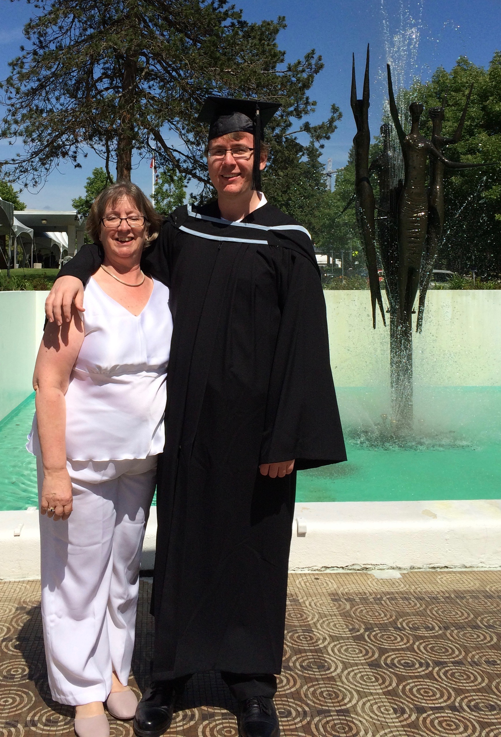 May 2016 - Alexander on graduation day from the University of British Columbia. His dad and I are so proud of him.