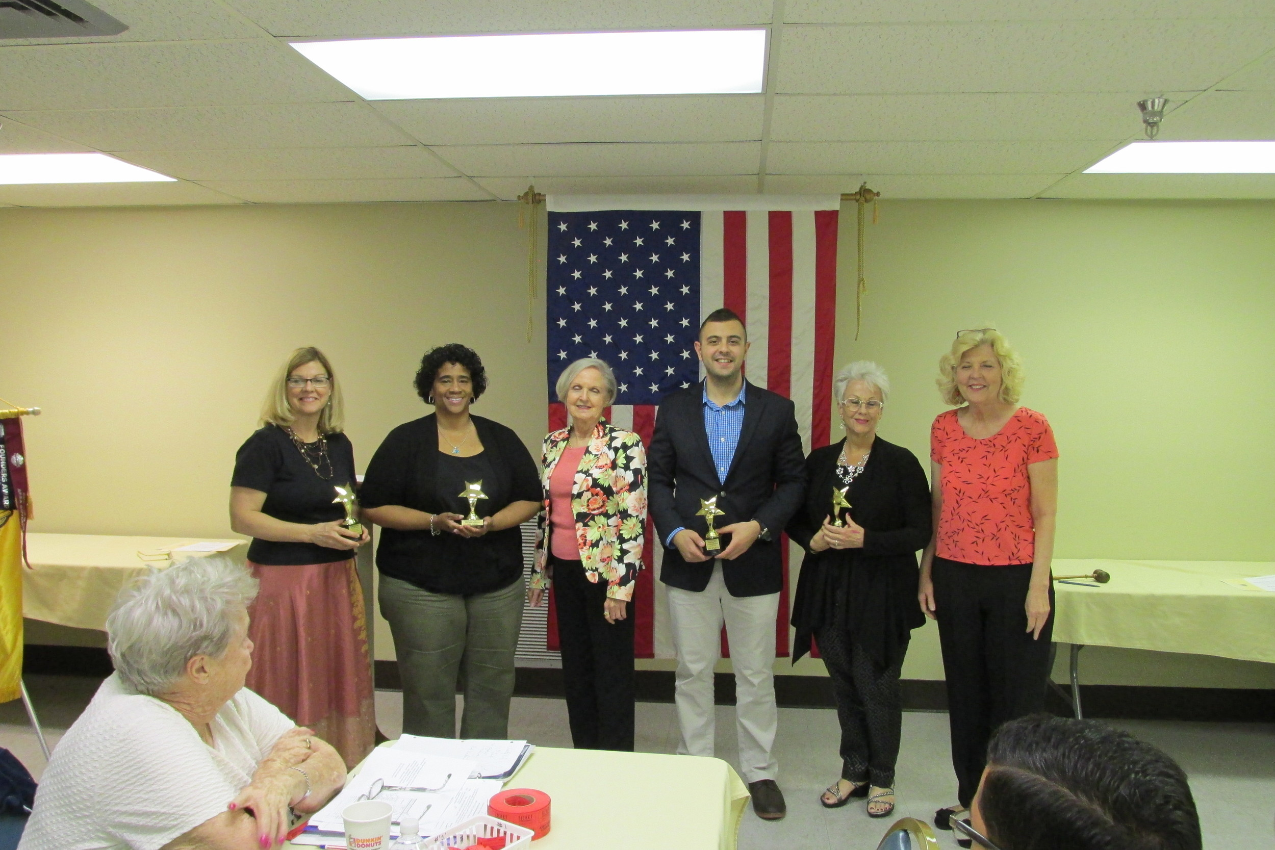 """Kelly Jadon, 1st place """"Table Topics"""" Elaine Arnell, 2nd place"""