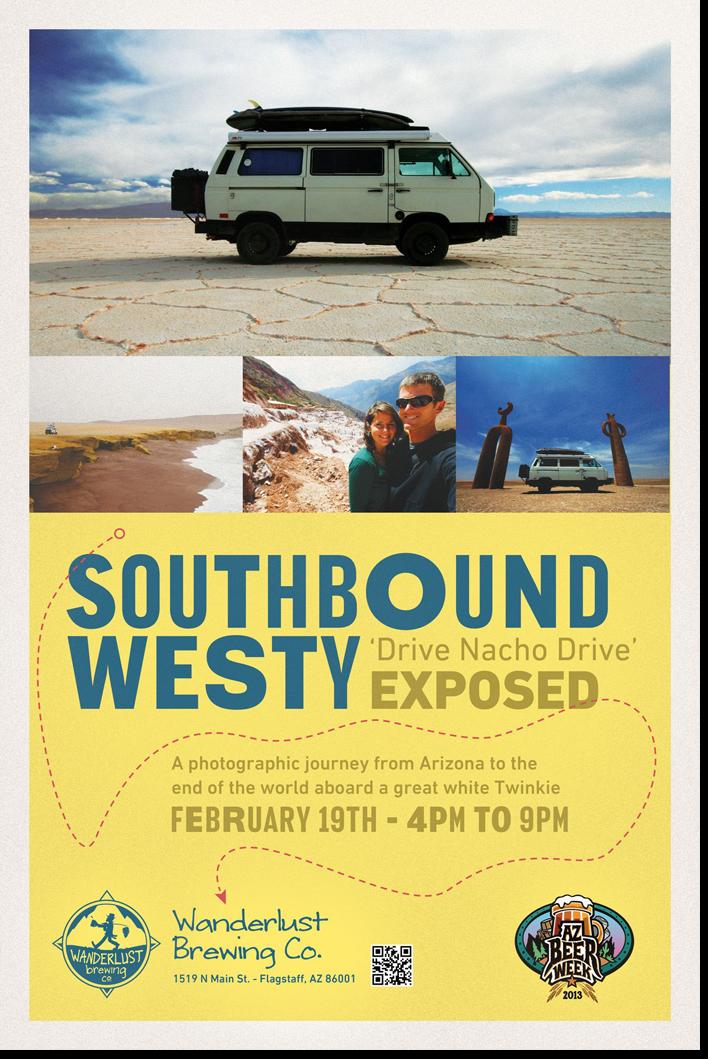 Wanderlust 'Southbound Westy' Event Poster Design - Flagstaff, AZ