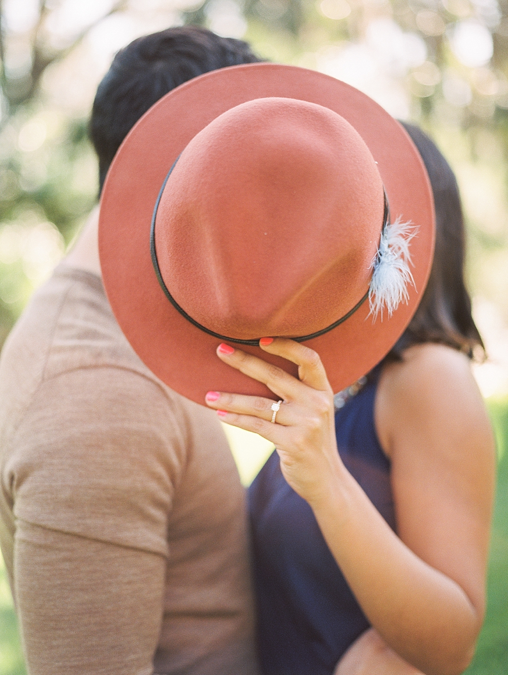 Janiece + Chris | The Sweetest Bok Tower Gardens Engagement Session | Florida Film Photographer Fuji 400h