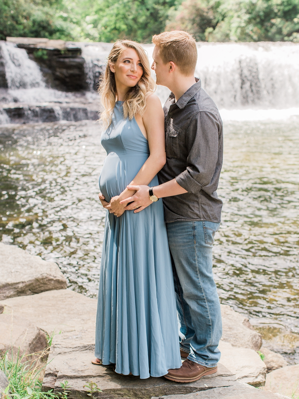Maternity Photos | DuPont State Forest | Hooker Falls North Carolina | Fine Art Photographer | Ashley Holstein Photography