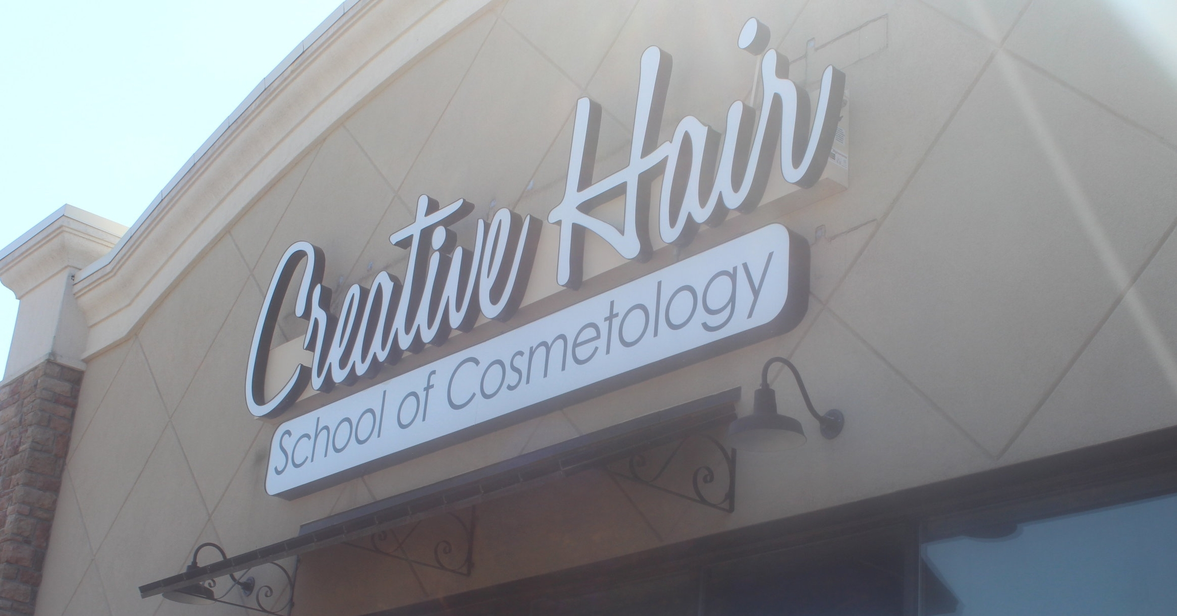 Creative Hair School Building Sign .JPG