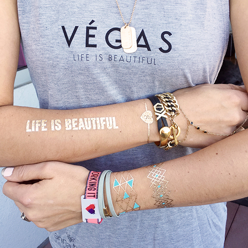 LIFE IS BEAUTIFUL CUSTOM TATTOO