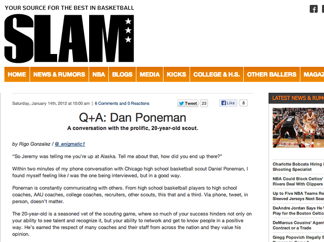 2011 SLAM Magazine Q&A with Daniel Poneman