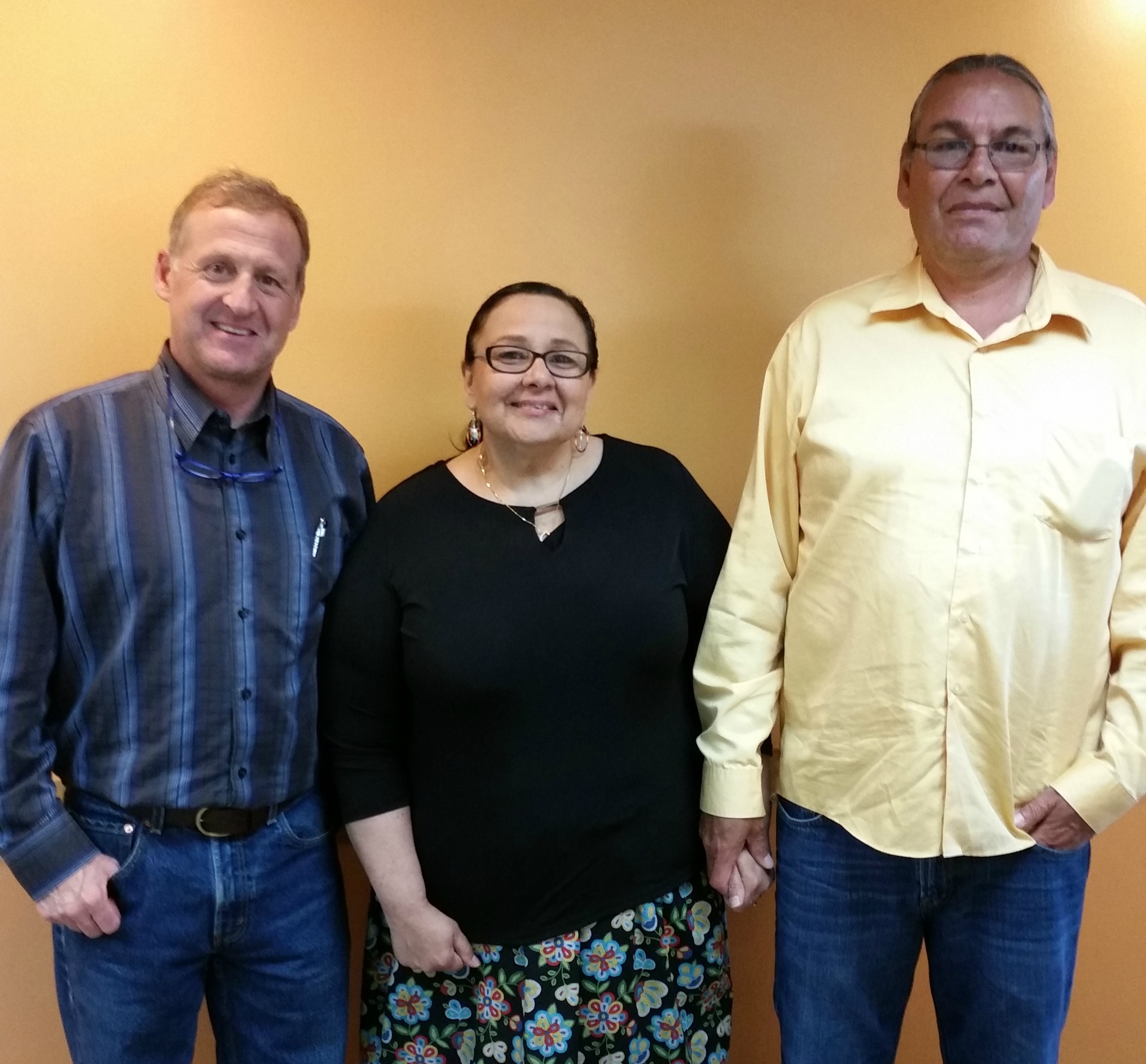 with tom and karen barrett of the red lake nation