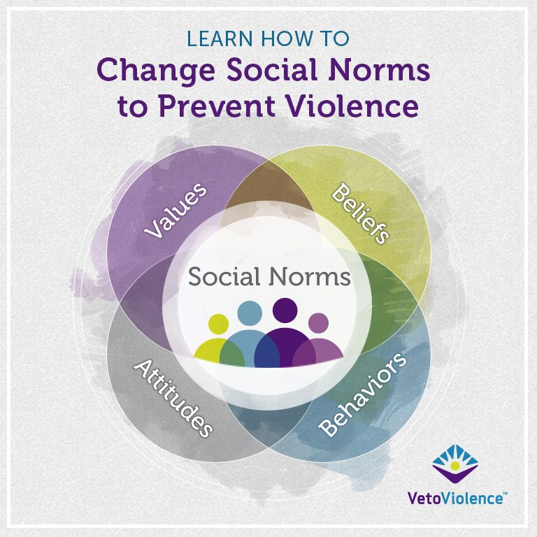 Image from The CDC's  new online resource on norms change and violence prevention.