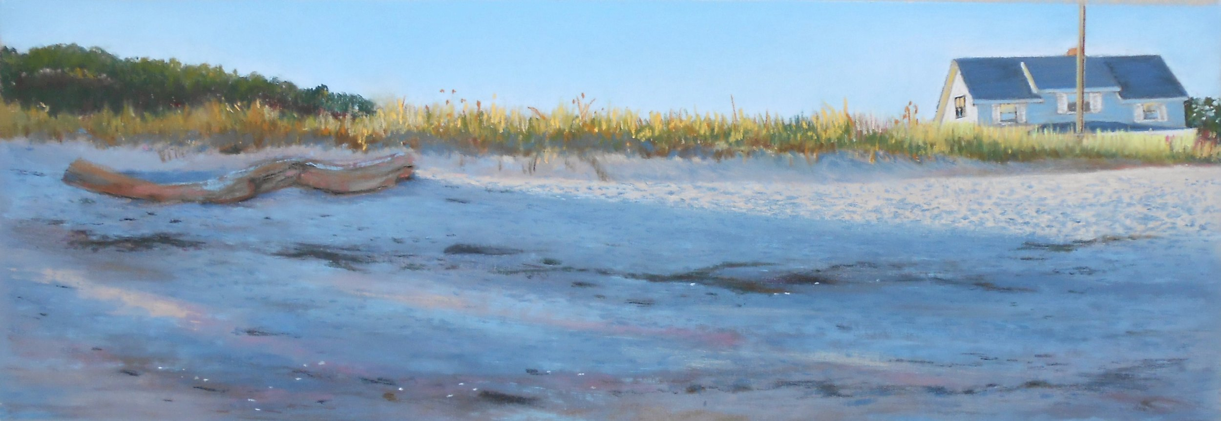 Late Afternoon Beach, Point O Woods, Old Lyme, CT,Pastel: $600