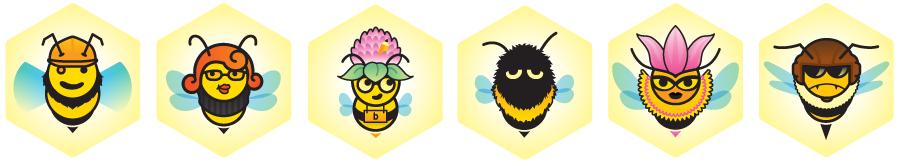 Busy Bee, Honey Bee, Spelling Bee, Bumble Bee, Queen Bee, Killer Bee