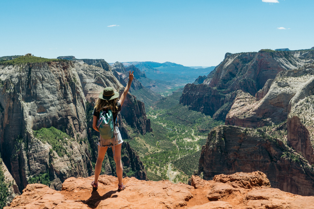 Hiking Observation Point in Zion National Park