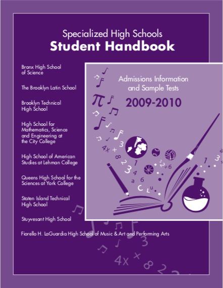 2009-2010 SHSAT Student Handbook