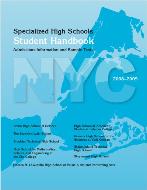 2008-2009 SHSAT Student Handbook