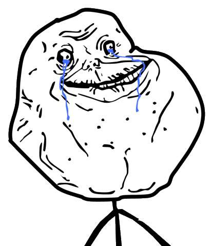 Forever Alone Guy. Contributed by Andy_C on meme.wikia.com