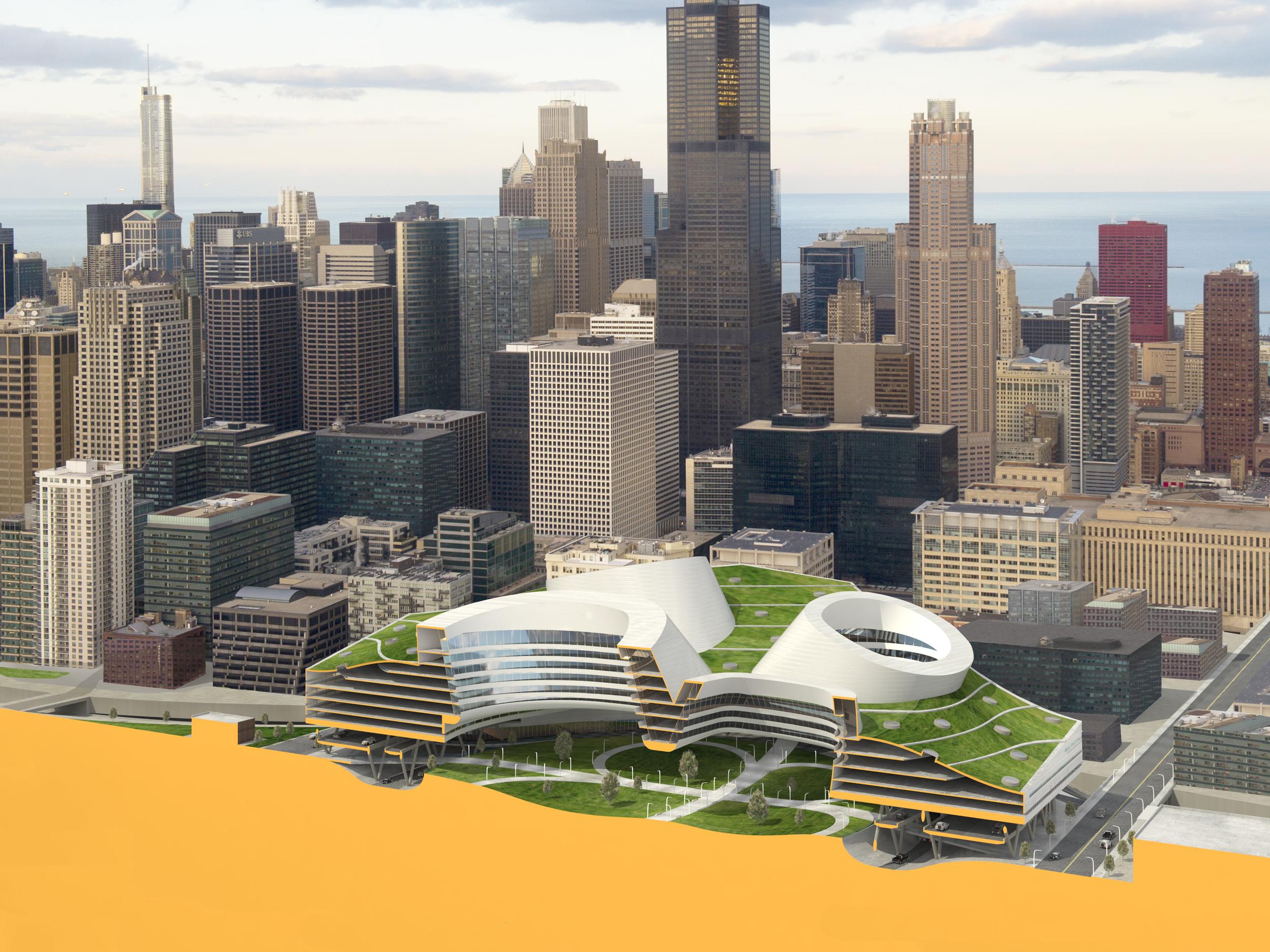 Chicago Loop: Cloverleaf Building