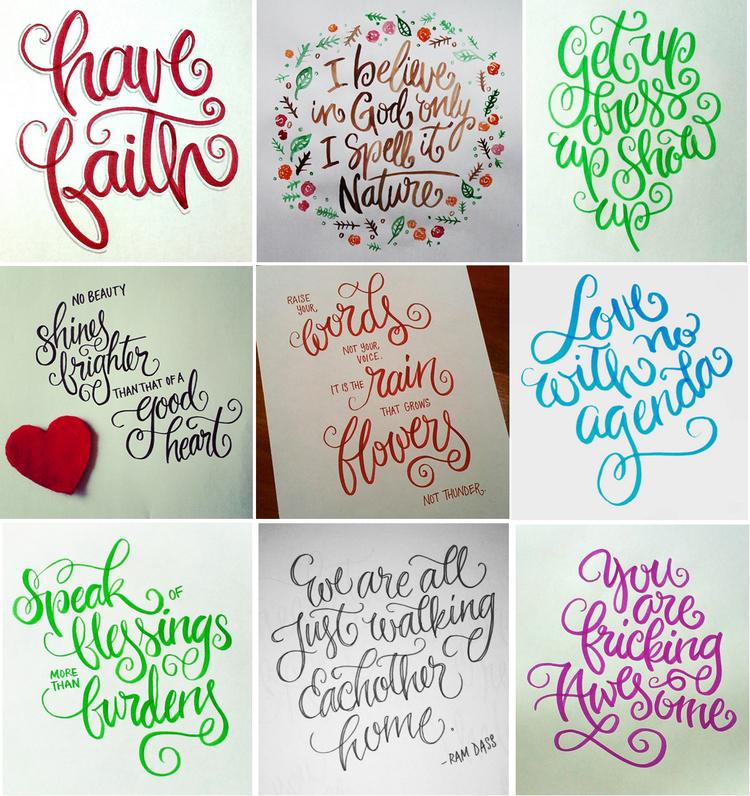 Modern Hand Lettering