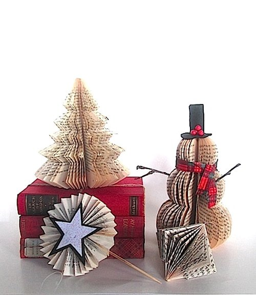 Used-Book Holiday Ornaments