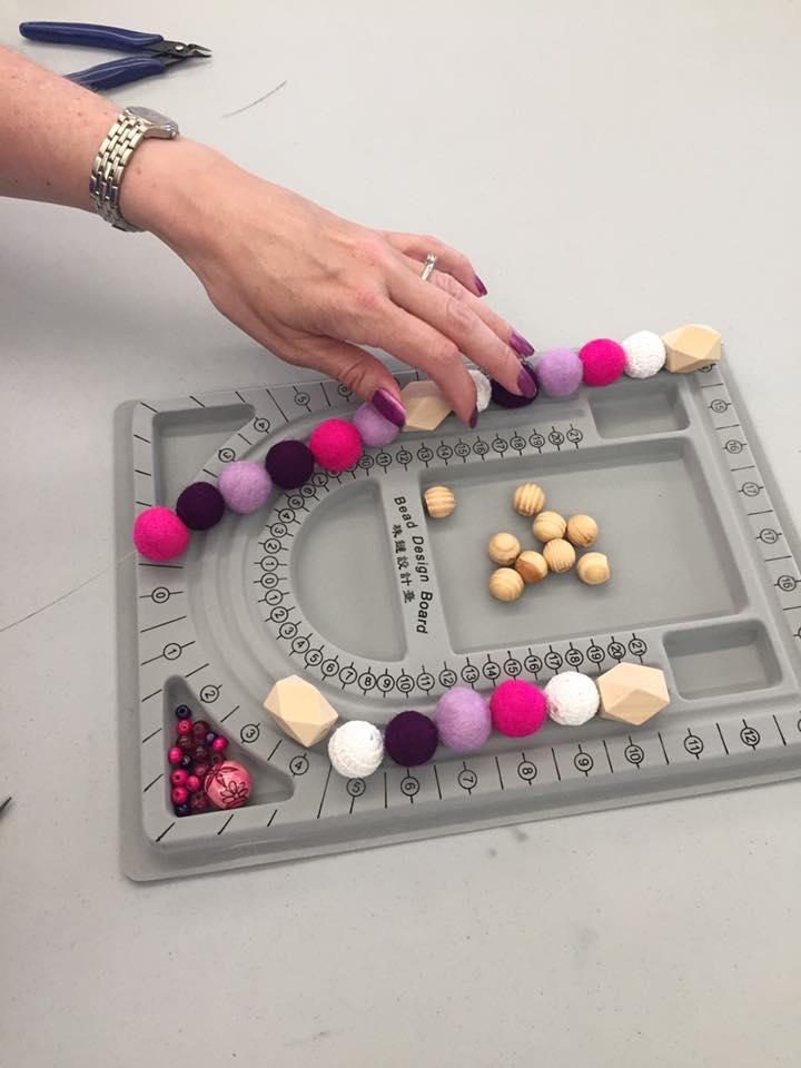 Felted Ball Necklace Workshop
