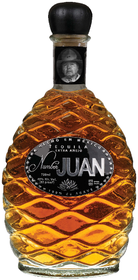 Number JUAN Tequila ,  Extra Anejo.