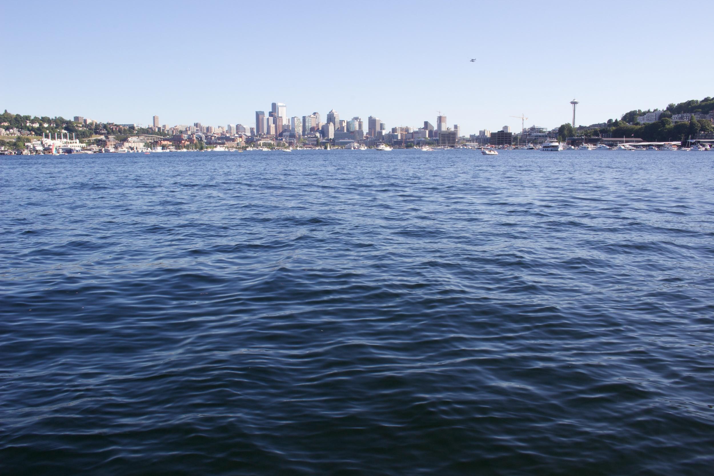 Flying across the water towards Seattle.jpg