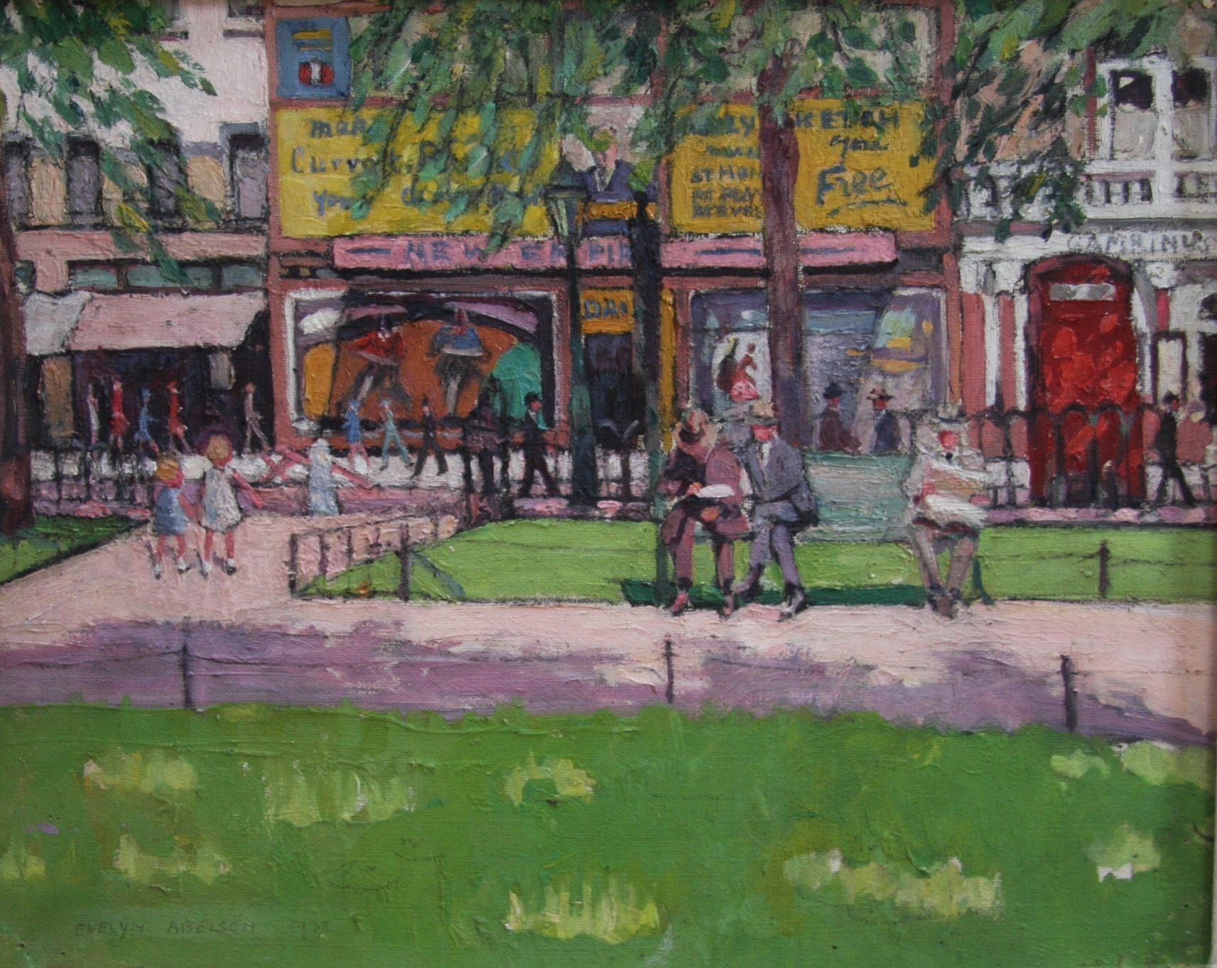 Collecting 20th Century Art - 'Leicester Square, London' by Evelyn Abelson