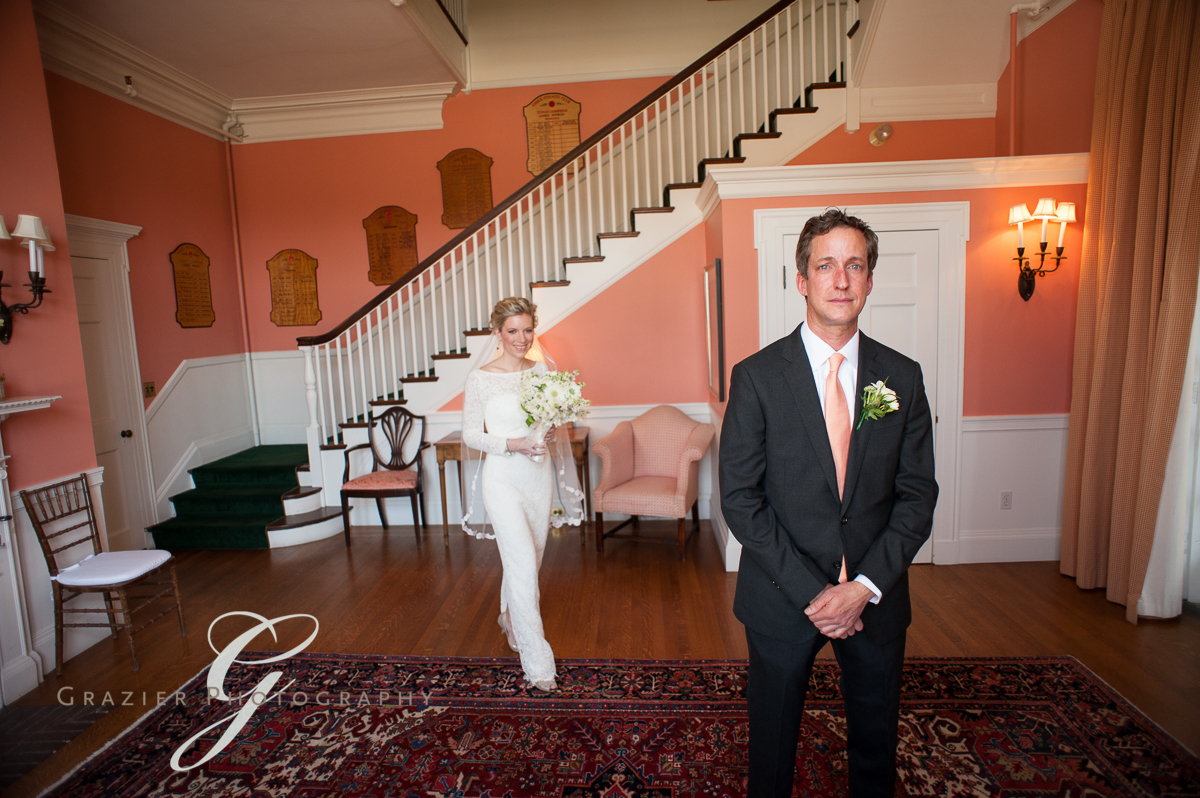 First Look, Essex Country Club, Manchester MA, Grazier Photography