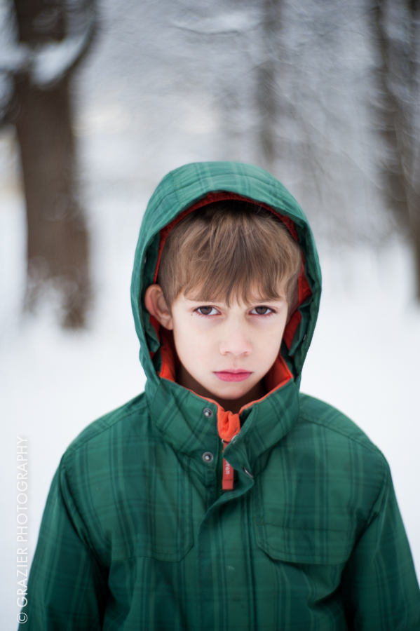 my son made this face on purpose - I think he was going for 'studied badass'.