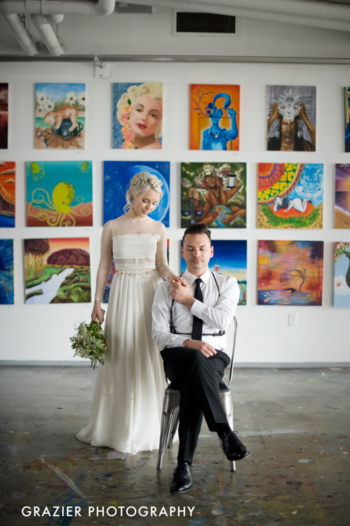 We just have to share one more favorite bit of loveliness from Holly and Greg's wedding at Artists for Humanity Boston.
